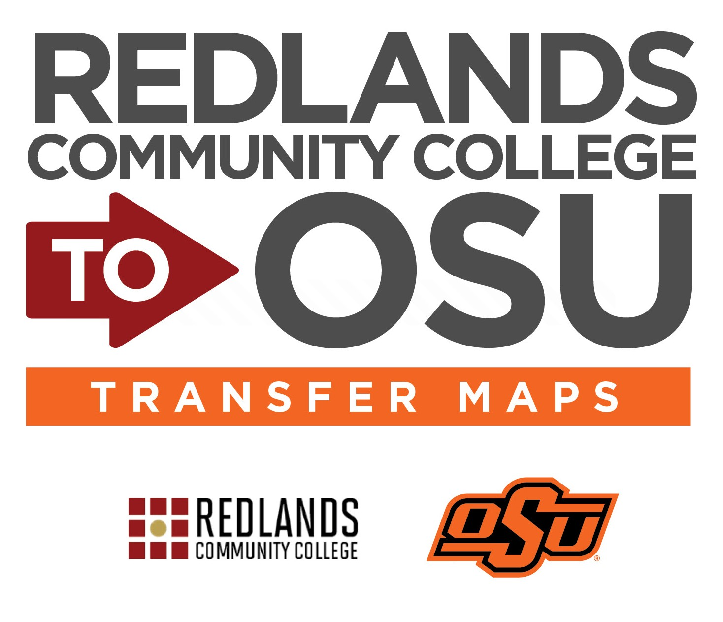 Redlands CC to OSU Transfer Map